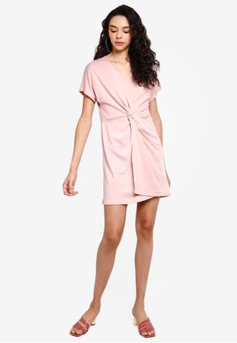 a510e95e84 Buy Boohoo Twist Knot Front Detail Bodycon Dress Online on ZALORA Singapore