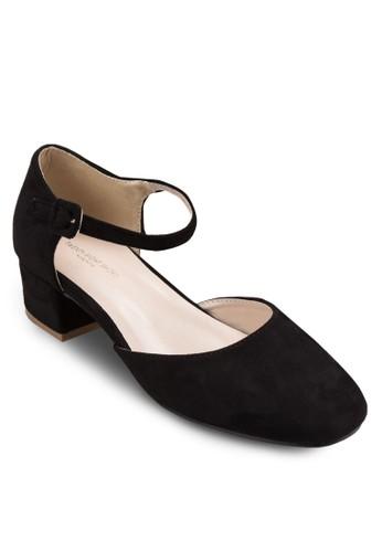 Pantone 色側鏤空粗跟esprit 請人涼鞋, 韓系時尚, 梳妝