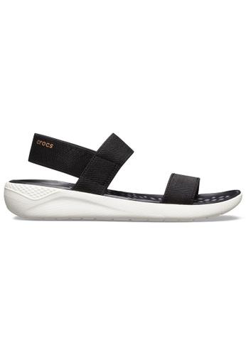 Crocs black Women's LiteRide™ Sandal Blk/Whi B5336SH224A30BGS_1