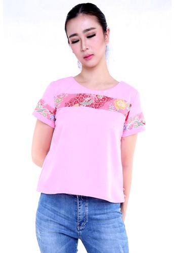 DhieVine Batik pink and multi Aster Encim Pink Batik Blouse 79517AA9C087CAGS_1