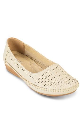 沖孔豆豆鞋,zalora 泳衣 女鞋, 船型鞋