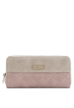 Quilted Fashion Colour Block Ladies Zip-Up Wallet