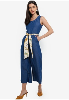 3b648ab6784 30% OFF ZALORA Sleeveless Denim Jumpsuit S  49.90 NOW S  34.90 Sizes XS S M  L XL