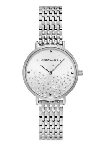 BCBG silver BCBGMAXAZRIA BG50990003 White and Silver Stainless Steel Watch FB2C6ACB4FFFB9GS_1