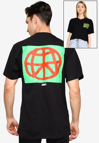 OBEY black Obey Worldwide Peace T-Shirt E9A2BAA6E7FEEFGS_1