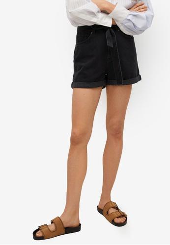 Mango grey Paperbag Denim Shorts E7CC4AA6412998GS_1