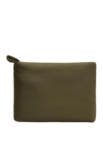 Mango green Padded Laptop Case 748C5AC0E45808GS_1
