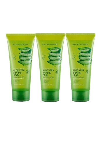 NATURE REPUBLIC Bundle 3 - Soothing & Moisture Aloe Vera 92% Soothing Gel 250ml 363E2BE9091076GS_1