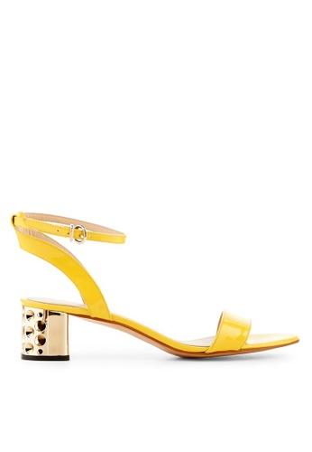 Minelli yellow F63 037/VER Patent Cow Leather Sandals - Doriane MI352SH64YLNSG_1
