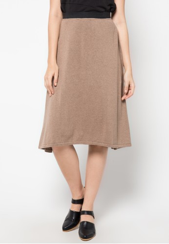 Noir Sur Blanc brown Ladies Midi Skirt NO321AA21AHEID_1
