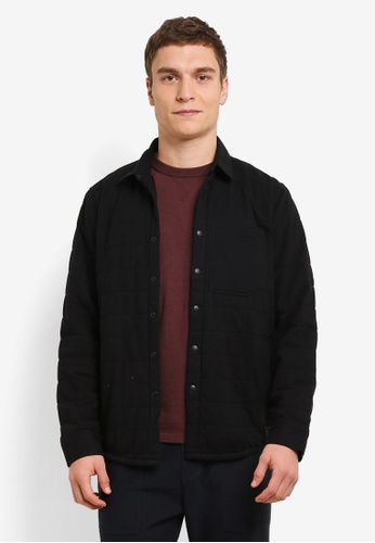 Abercrombie & Fitch black Quilted Jacket AB423AA0SBO4MY_1