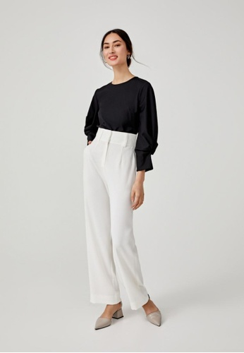 Love, Bonito black Constans Puff Sleeve Top 0D294AABEF265AGS_1