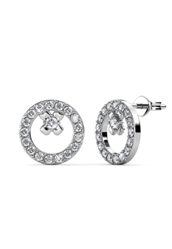 Her Jewellery silver Eliza Earrings -  Embellished with Crystals from Swarovski® 9D08EAC8E4D8EFGS_1