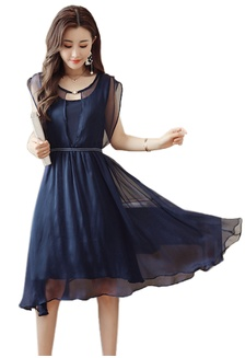 257df237a423 New Chiffon Cap Sleeve Flared One Piece Dress CA030724BL 2A628AA3DE1E13GS 1  Sunnydaysweety ...