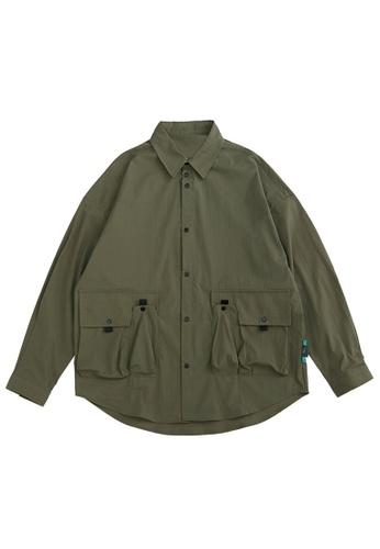 Twenty Eight Shoes Functional Pockets Long Sleeve Shirt 2111W20 D9CB7AA2595D07GS_1