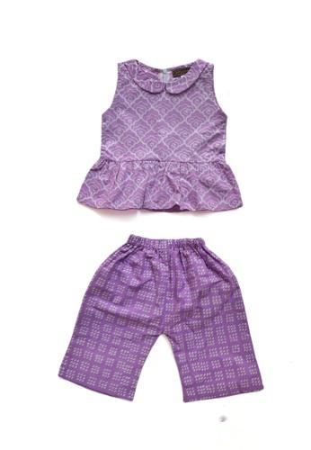 LITTLE BATIK purple LITTLE BATIK PeterPan Collar Batik with Pants F7EF9KAB7DC724GS_1