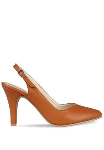 CLAYMORE brown Claymore sepatu high heels B 704 T Tan CL635SH0UIY7ID_1