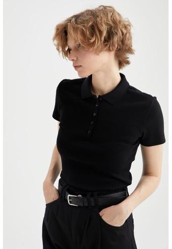 DeFacto black Short Sleeve Polo T-Shirt DCCFAAA709D6B5GS_1