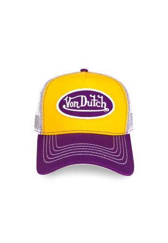 Von Dutch white and yellow and purple and gold Von Dutch Purple Gold Trucker Cap 556A6AC593A106GS_1