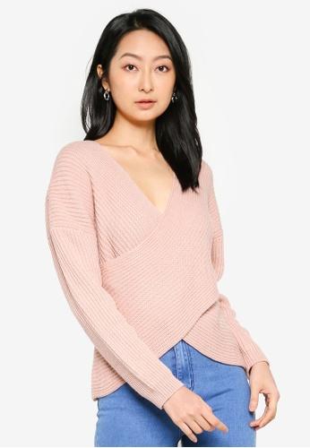 ZALORA BASICS pink Fold Detail Knitwear 0870BAA76F3268GS_1