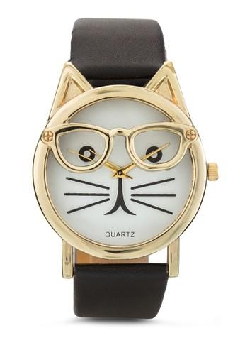 眼鏡貓咪造型esprit hk分店手錶, 錶類, 休閒型