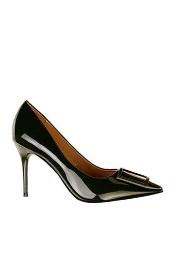 Twenty Eight Shoes green Square Buckled Heels VL17851 B85C5SHDB83D1FGS_1