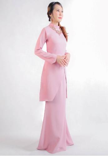 SARIMA pink Kurung Modern Muslimah Fashion Pink Blush A0D37AA504A71BGS_1