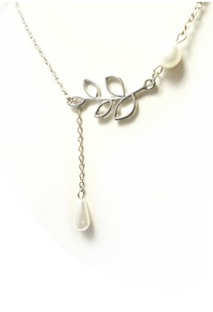 Pearl and Olive Branch Necklace