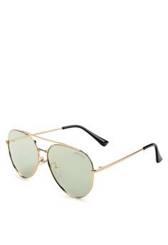 cf232fb0b2 Urban State green and gold Polarized Rimless Edge Aviator Sunglasses  3244DGL9C2F365GS 1