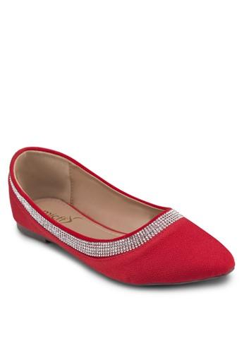 經典串esprit 折扣珠平底鞋, 女鞋, 鞋