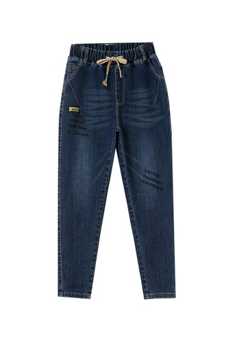 Its Me navy Elastic Waist Warm Jeans (Plus Cashmere) 0909CAA97F880EGS_1