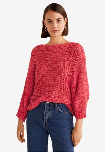 MANGO red Open-Knit Sweater 33391AA92476FBGS_1
