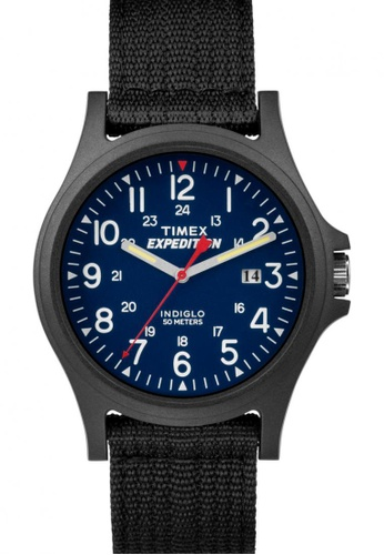 TIMEX black Timex Expedition® Acadia - Black Nylon Performance Strap Watch TI857AC65COSSG_1