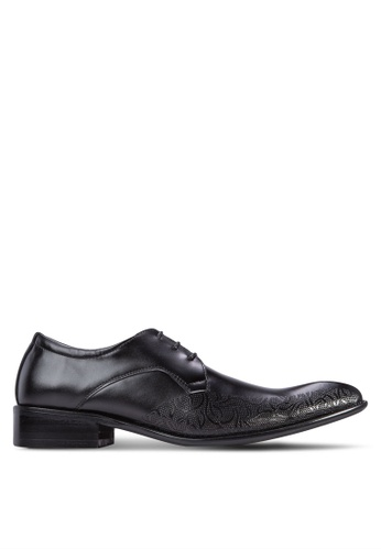 Frank Williams black Leather Lace Up Business Shoes FR033SH95ZLWSG_1