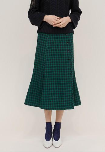 前排扣子裝飾長裙, 韓系時尚,esprit門市地址 裙子