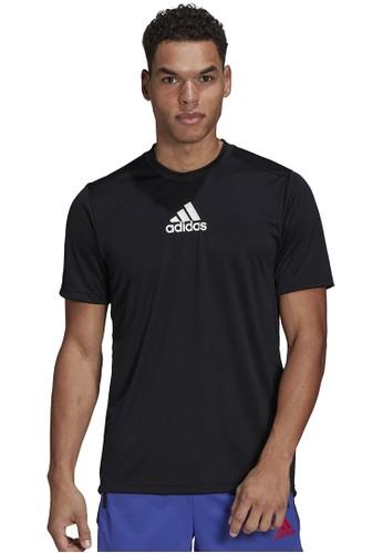 ADIDAS black adidas d2m 3 stripes t-shirt 06E89AA643BD02GS_1