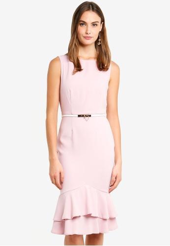 Paper Dolls pink Blossom Pephem Dress 7AFF8AA7AD6AE9GS_1