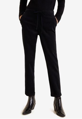 Mango black Cotton Corduroy Trousers 563BAAAF61B4C1GS_1