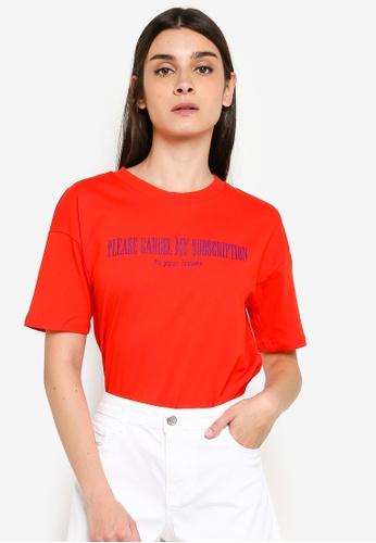 LC Waikiki 紅色 Short-袖 Crew-Neck 印花T-襯衫 09DF3AA002220DGS_1