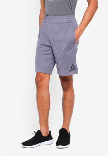 Reebok grey Studio Les Mills Mesh Basketball Shorts 7E622AA5202939GS_1