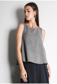 5758a7412ec1cb SALIENT LABEL Cleo Sleeveless Flare Top in Grey   Black S  36.50. Sizes L  XL XXL