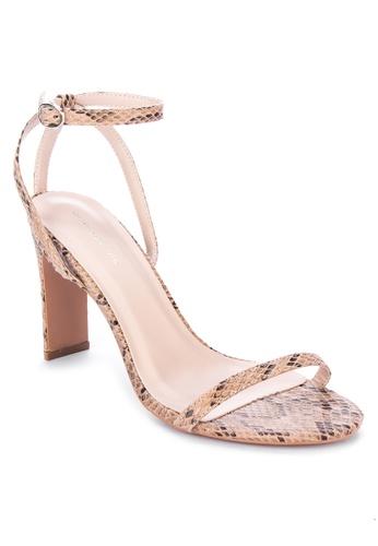 Primadonna beige Strappy Heels A2948SH4F68A3EGS_1