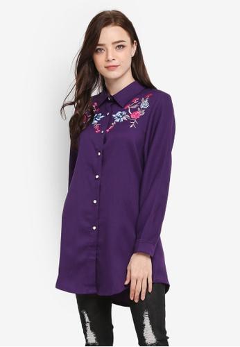 BYN purple Embroidery Shirt 064F3AAD9350BFGS_1