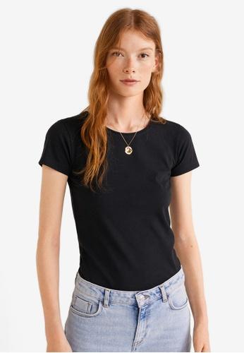 Mango black Essential Cotton T-Shirt D4961AAA1E30A0GS_1