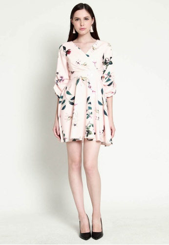 b6d85001 Obsessions Of The Damsel multi PREMIUM Matilda Floral Swing Dress in Baby  Pink [S/