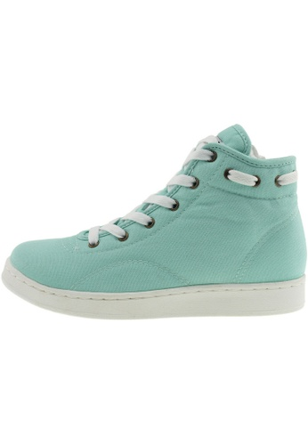Maxstar 綠色 新款韩国鞋020-Taller時尚帆布布混合女浅蓝色 US Women Size MA345SH30GVXTW_1