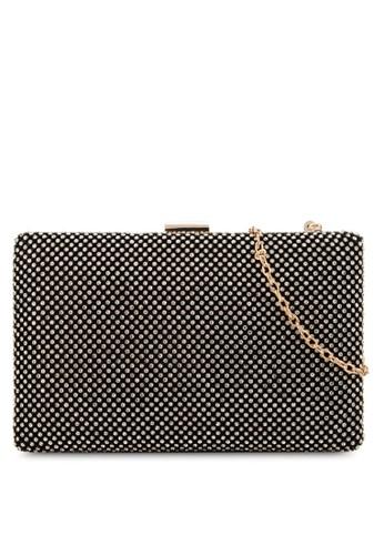 閃鑽方形手拿包, 包, 手zalora時尚購物網評價拿包