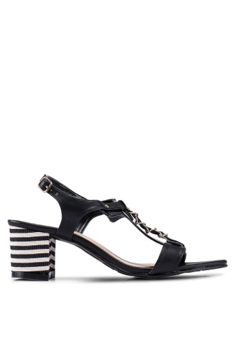 DMK 黑色 鍊條粗跟 涼鞋 66D37SH3011681GS_1