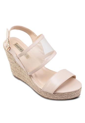 Faith 繞踝楔型跟涼鞋, 女鞋,esprit outlet台北 楔形鞋