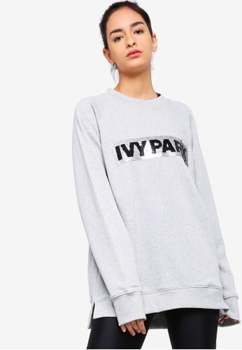 Ivy Park grey Sequin Brush Logo Sweater 1D643AAAF11719GS_1